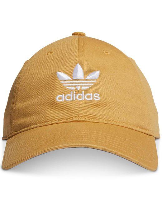 best service 95ef1 38f3a Adidas - Natural Originals Logo Hat for Men - Lyst ...