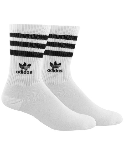 Adidas - White Cushioned Crew Socks for Men - Lyst