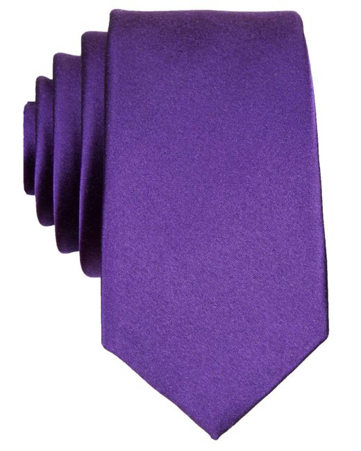 Original Penguin - Purple Super Slim Solid Tie for Men - Lyst