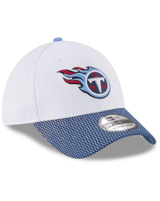 the best attitude 3d9fe d145c ... KTZ - Blue Tennessee Titans Equalizer 39thirty Cap for Men - Lyst ...