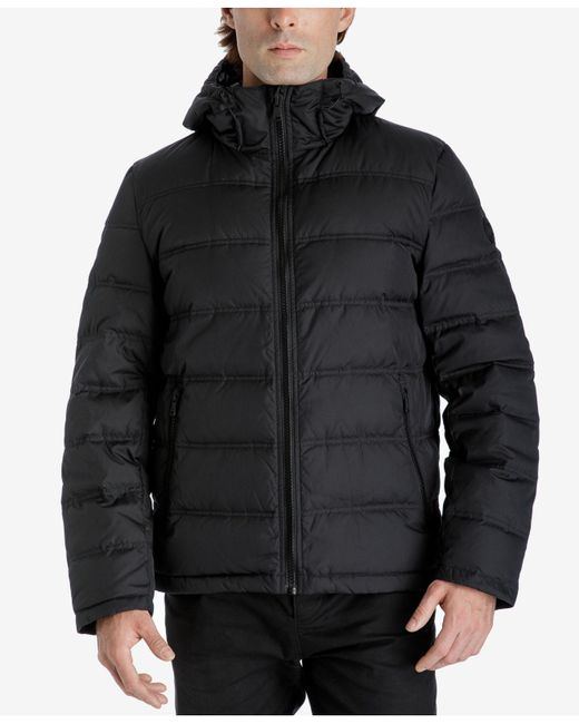 Michael Kors | Black Down Packable Jacket for Men | Lyst