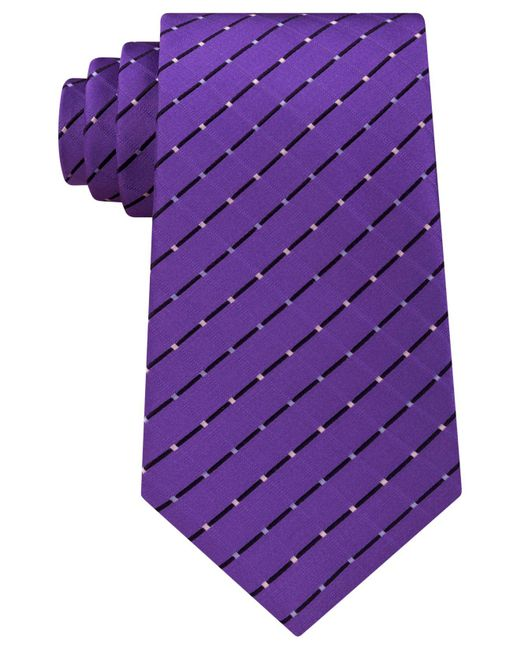 Michael Kors | Purple Men's Metropolis Grid Tie for Men | Lyst