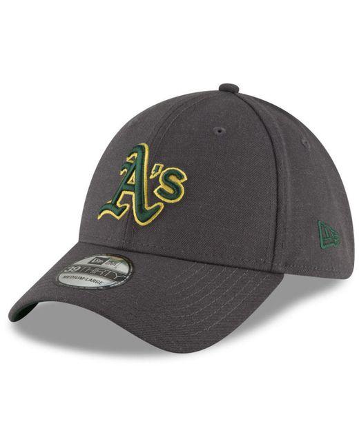 KTZ - Gray Oakland Athletics Charcoal Classic 39thirty Cap for Men - Lyst  ... 9357b2b6867b