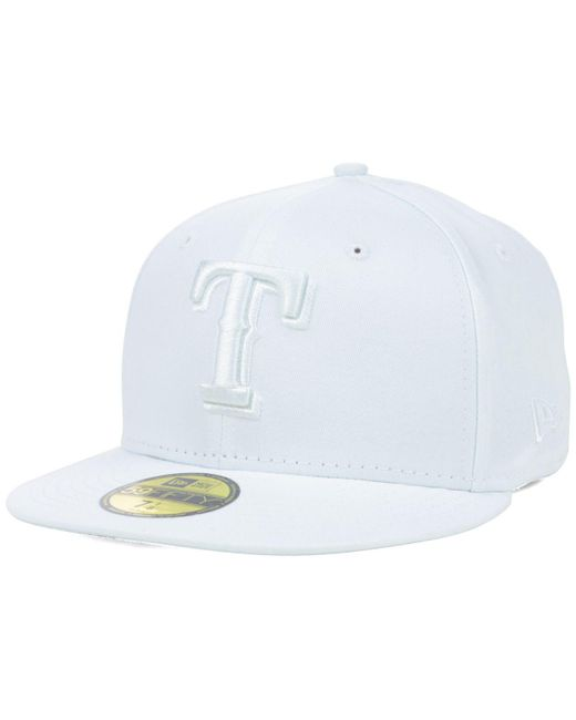 KTZ - Texas Rangers White-on-white 59fifty Cap for Men - Lyst