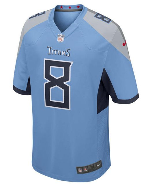 9d281fbef ... Nike - Blue Marcus Mariota Tennessee Titans Game Jersey for Men - Lyst
