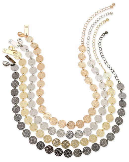 INC International Concepts | Metallic Multi-tone 4-pc. Set Beaded Choker Necklaces | Lyst