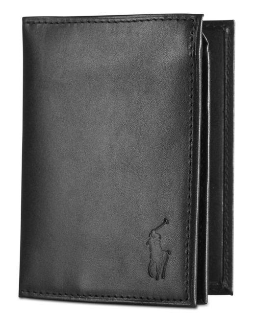 Polo Ralph Lauren - Black Wallet, Burnished Billfold Wallet With Window for Men - Lyst