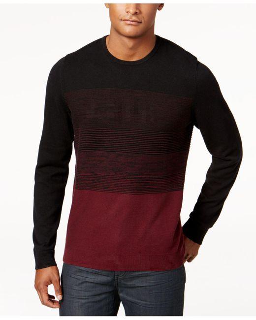 Alfani | Black Men's Colorblocked Sweater for Men | Lyst