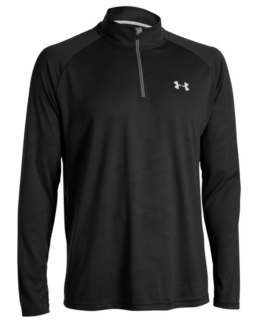 Under Armour | Black Long Sleeve Quarter-zip Pullover for Men | Lyst