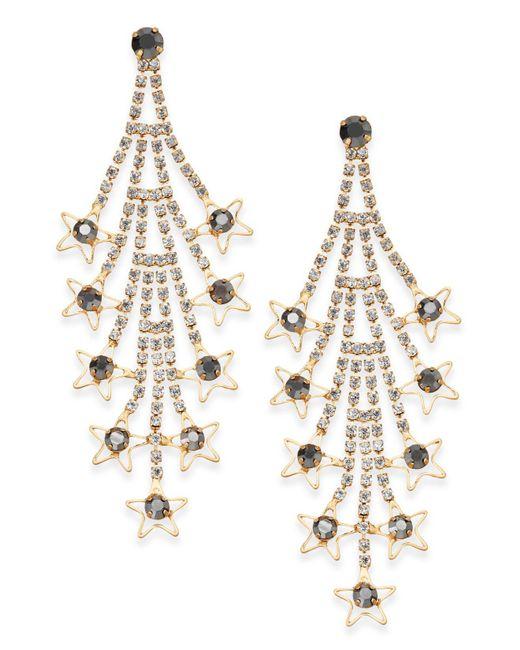 INC International Concepts | Metallic Gold-tone Crystal Cascade Drop Earrings | Lyst