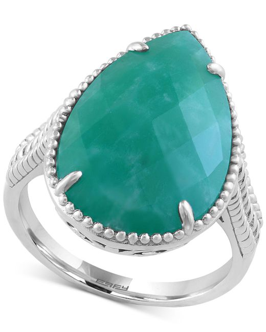 Effy Collection | Green Amazonite Drama Ring (5-3/4 Ct. T.w.) In Sterling Silver | Lyst