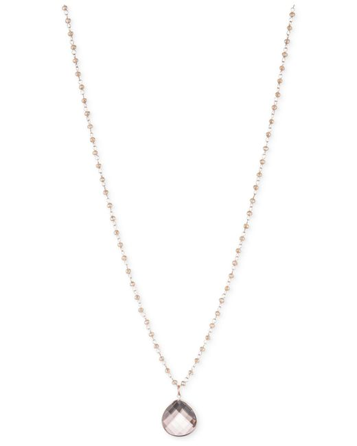 Lonna & Lilly - Metallic Gold-tone Long Crystal Teardrop Beaded Pendant Necklace - Lyst