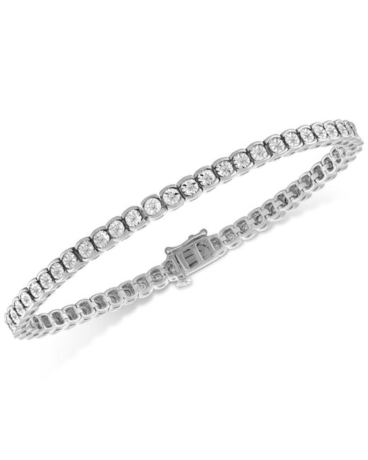 Macy's - Metallic Diamond Illusion Tennis Bracelet (1/2 Ct. T.w.) - Lyst