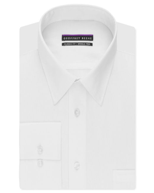 Geoffrey Beene - White Men's Classic-fit Wrinkle Free Bedford Cord Dress Shirt for Men - Lyst