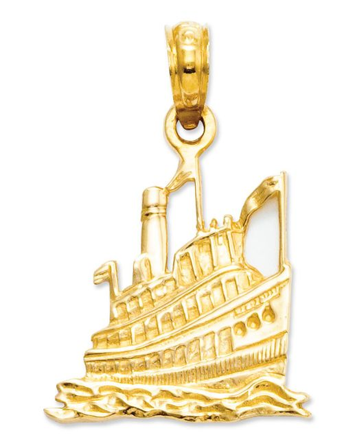 Macy's - Metallic 14k Gold Charm, Cruise Ship Charm - Lyst