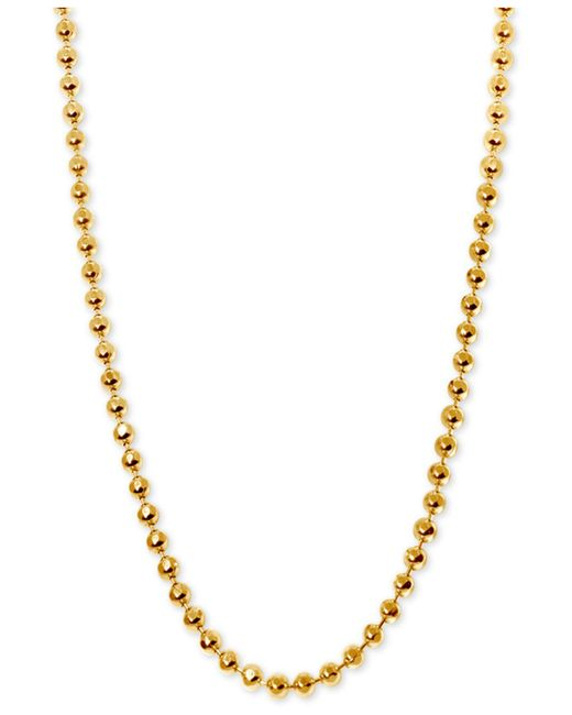 Alex Woo - Metallic Beaded Chain Collar Necklace In 14k Gold - Lyst