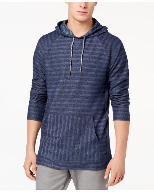 American Rag - Blue Men's Striped Tonal Hoodie for Men - Lyst