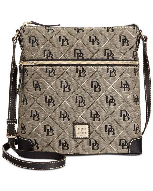 Lyst - Dooney   Bourke Maxi Quilt Americana Signature Crossbody in Black e312ac9d1fa85