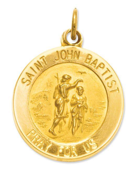Macy's | Metallic 14k Gold Charm, Saint John Baptist Medal Charm | Lyst