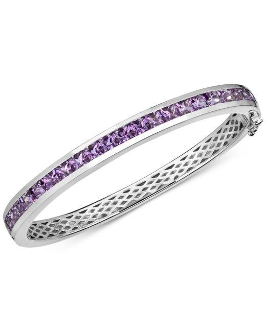 Macy's - Metallic Amethyst Bangle Bracelet (6-1/2 Ct. T.w.) In Sterling Silver - Lyst