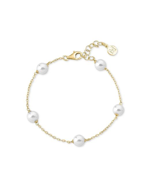Majorica | White Gold-plated Imitation Pearl Chain Bracelet | Lyst