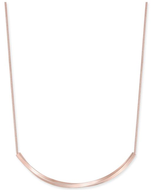 """Charter Club - Metallic Curved Bar Collar Necklace, 17"""" + 2"""" Extender, Created For Macy's - Lyst"""