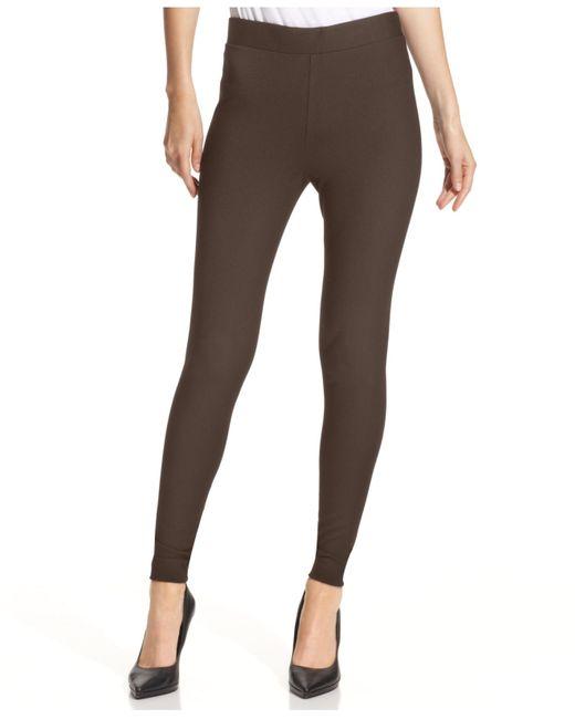 Vince Camuto | Brown Pants, Ponte-knit Leggings | Lyst