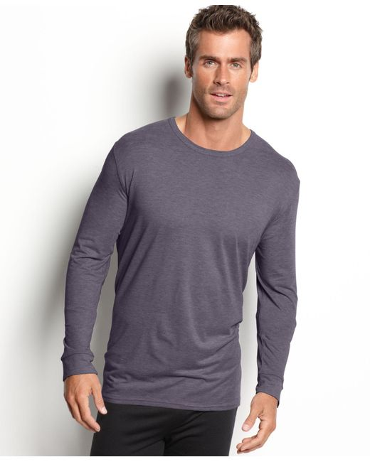 32 Degrees   Gray Heat Long Sleeve Crew Base Layer for Men   Lyst