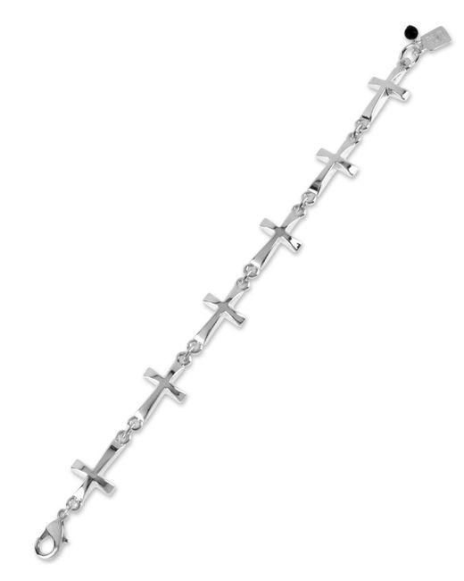 Robert Lee Morris - Metallic Bracelet, Silver-tone Cross Link Bracelet - Lyst