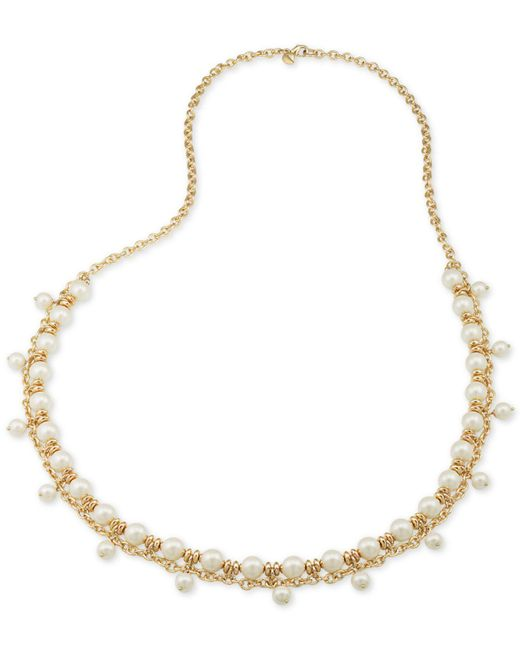 Carolee | Metallic Gold-tone Imitation Pearl Shaky Rope Necklace | Lyst