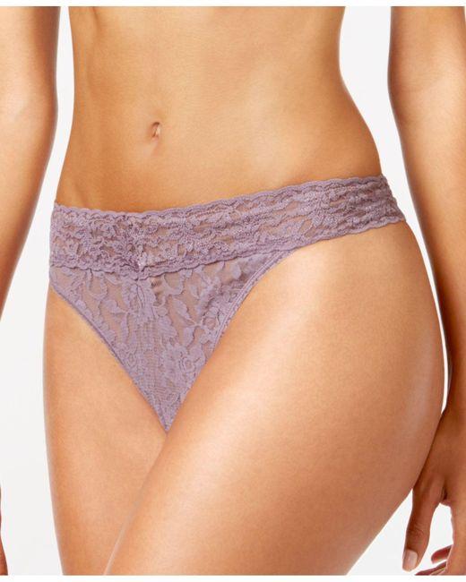 Hanky Panky | Purple Signature Lace Original Rise Thong 4811 | Lyst