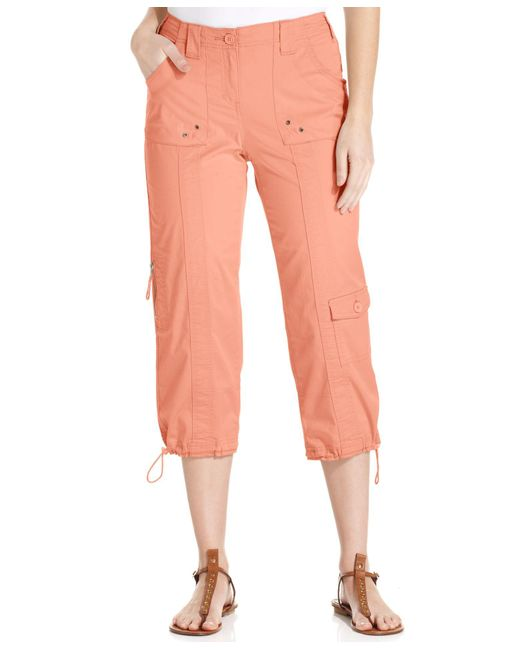 Style & Co. | Orange Cargo Capri Pants, Only At Macy's | Lyst