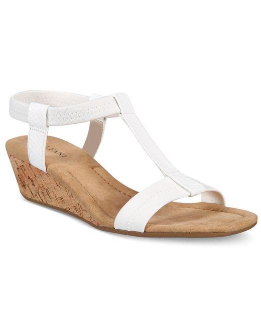 Alfani - White Voyage Wedge Sandals - Lyst
