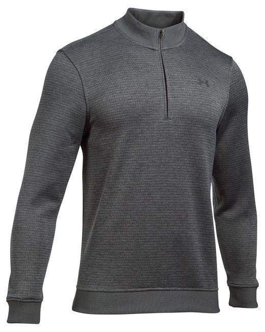 Under Armour - Gray Stripe Storm Sweater Fleece for Men - Lyst