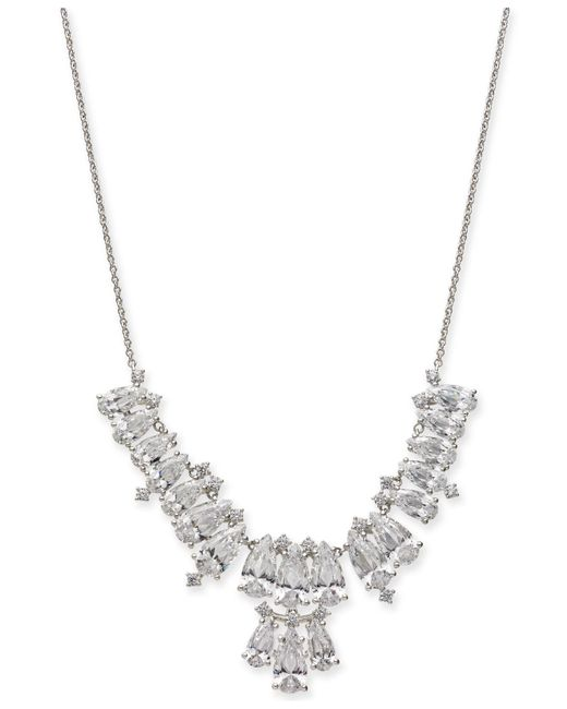 Danori - Metallic Silver-tone Marquise Crystal Statement Necklace, Created For Macy's - Lyst