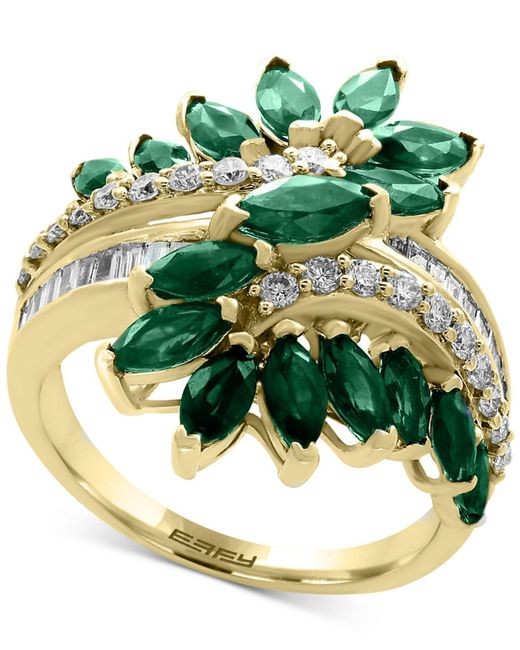 Effy Collection - Green Emerald (2-1/2 Ct. T.w.) And Diamond (3/8 Ct. T.w.) Ring In 14k Gold - Lyst