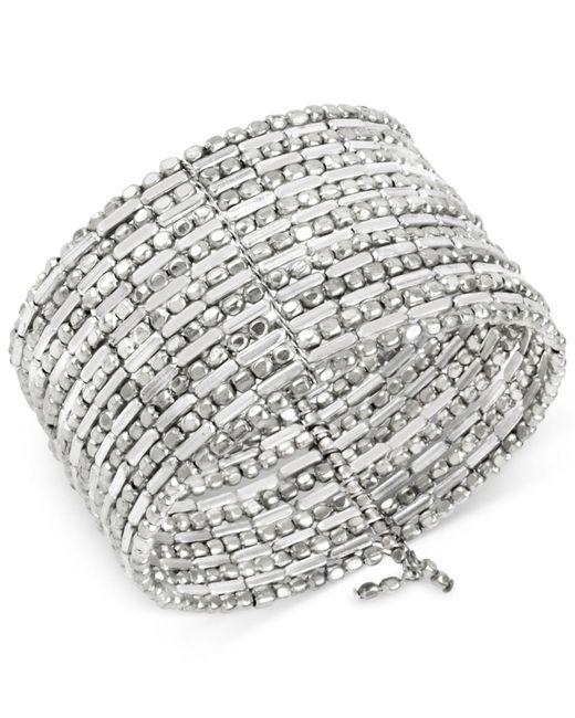 Kenneth Cole | Metallic Silver-tone Seed Bead Coil Bracelet | Lyst