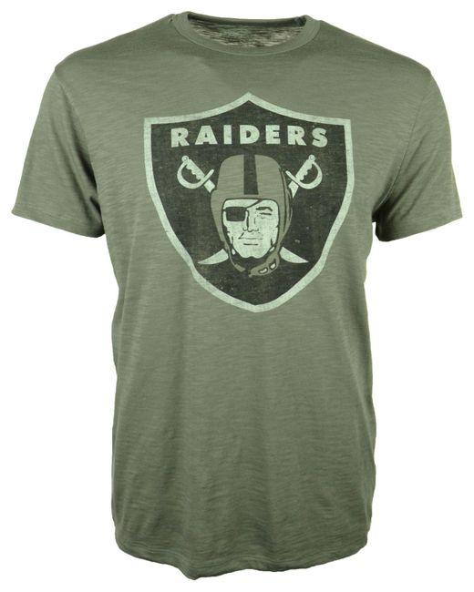 47 Brand - Gray Oakland Raiders Logo Scrum T-shirt for Men - Lyst