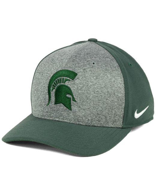 the best attitude 9462e 8597c ... coupon code nike green michigan state spartans legend swooshflex cap  for men lyst adb84 05100