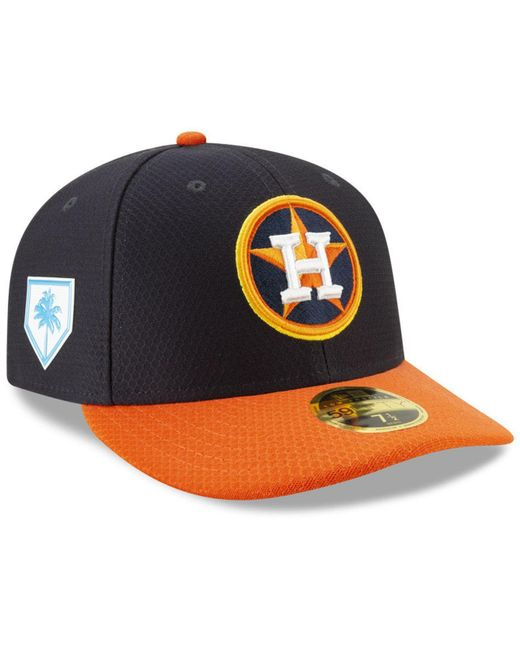 2e6064f4d42 KTZ - Blue Houston Astros Spring Training 59fifty-fitted Low Profile Cap  for Men ...