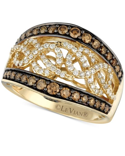 Le Vian | Brown Chocolate And White Diamond (1 Ct. T.w.) Band In 14k Gold | Lyst