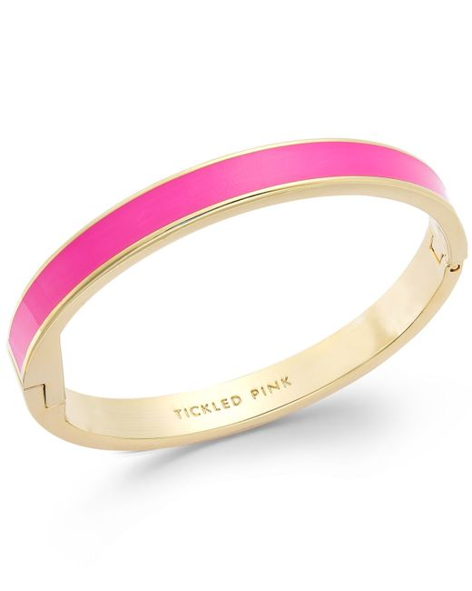 Kate Spade | Gold-tone Tickled Pink Idiom Bangle Bracelet | Lyst