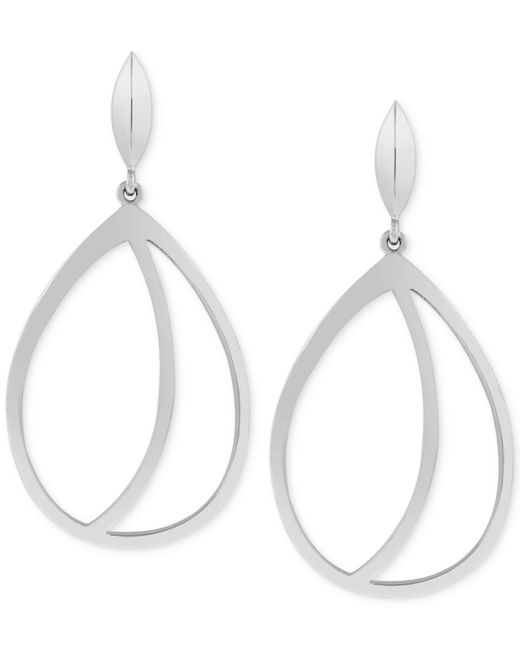 Vince Camuto | Metallic Silver-tone Cut-out Drop Earrings | Lyst