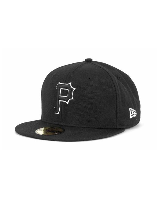 KTZ - Pittsburgh Pirates Black And White Fashion 59fifty Cap for Men - Lyst