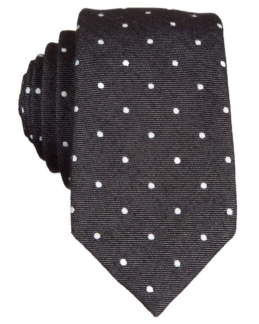 Original Penguin | Black Banville Dot Tie for Men | Lyst