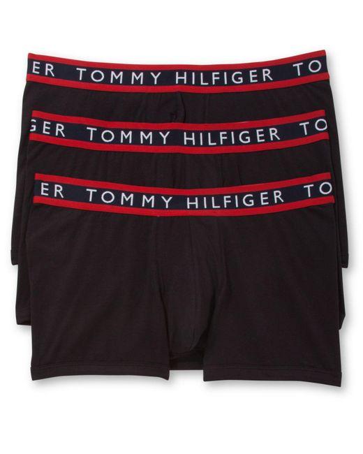 Tommy Hilfiger | Black Men's Stretch Trunks 3-pack for Men | Lyst