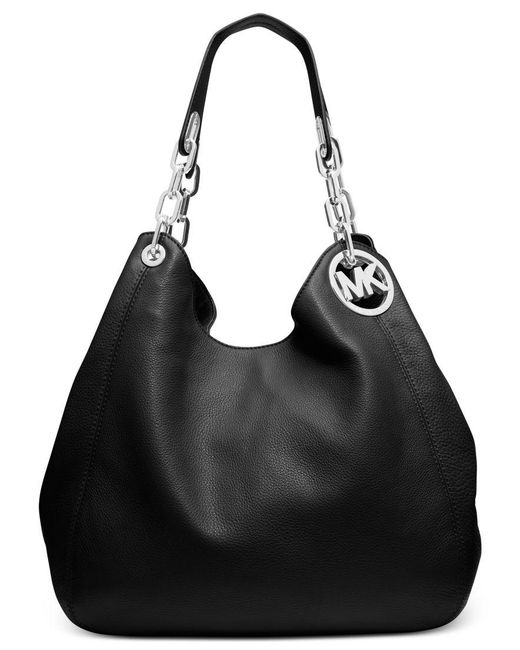Michael Kors | Black Michael Fulton Large Shoulder Tote | Lyst