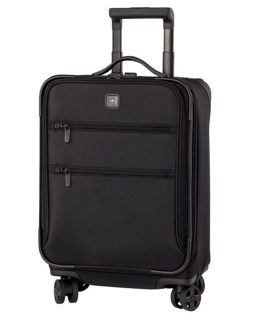 "Victorinox | Black Closeout! 50% Off Victorinox Lexicon 20"" Global Carry On Expandable Spinner Suitcase for Men 