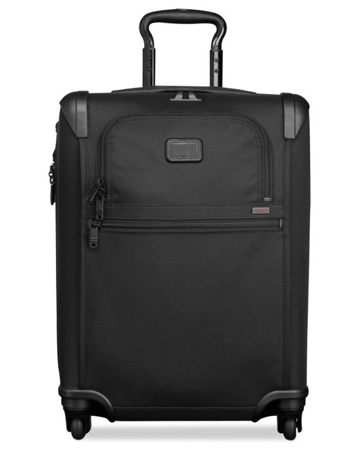 "Tumi | Black Alpha 2 22"" Domestic Carry On Expandable Spinner Suitcase 