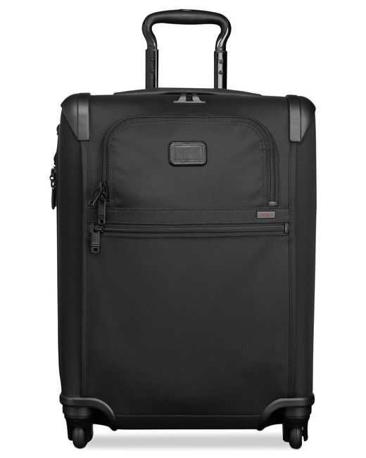 "Tumi | Black Alpha 2 22"" Continental Carry On Expandable Spinner Suitcase 